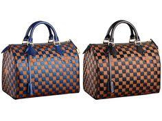 Louis Vuitton Black and Blue Damier Paillettes Speedy Bag