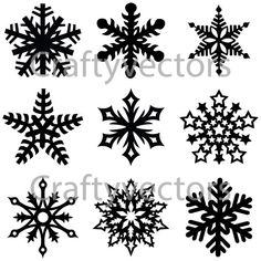 Snowflakes vector file