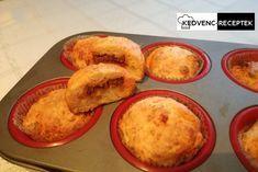 Vendégváró falatka akár szilveszter esére is a sajtos muffin kolbásszal