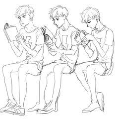 reading pose reference - Pesquisa Google