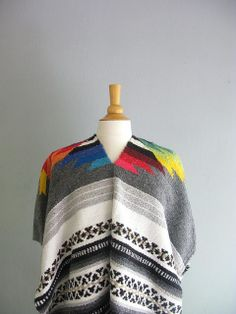 Vintage RAINBOW in the CLOUDS Navajo Poncho | Flickr - Photo Sharing!