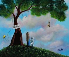 Alice In Wonderland Painting by Shawna Erback