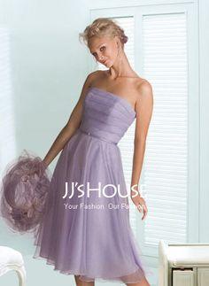 Bridesmaid Dresses - $98.99 - Fantastic A-Line/Princess Strapless Knee-Length Organza Bridesmaid Dress with Ruffle (007001109) jjshouse.com