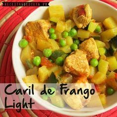 Caril de Frango Light #receita #light #dieta #regime #emagrecer
