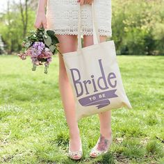 'Bride To Be' Tote Bag by Alphabet Bags, the perfect gift for Explore more unique gifts in our curated marketplace. Purses Online, Handbags Online, Cheap Designer Handbags, Designer Totes, Wedding Dreams, Dream Wedding, Cotton Tote Bags, Reusable Tote Bags, Bridal Handbags