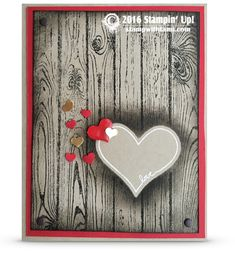 stampin up valentines day heart carved in tree card Valentine Love Cards, Valentines Day Hearts, Engagement Cards, Heart Cards, Creative Cards, Anniversary Cards, Stampin Up Cards, Altenew Cards, Homemade Cards