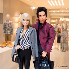 """""""Quick meet up with @zoolander for a visit to the beautiful @maisonvalentino boutique. Adoring the spring collections!  #barbiezoolander #zoolander2…"""""""