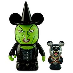Vinylmation Oz Series Figure Set - Wicked Witch of the West with 1 Flying Baboon- Disney Store Oz Series, Dark Spells, The Witches Of Oz, Baboon, Wicked Witch, Disney Merchandise, Heart For Kids, Disney Pins, Vinyl Figures