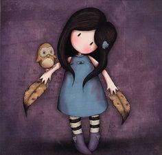 """Gorjuss Art: """"Birds of a Feather"""""""