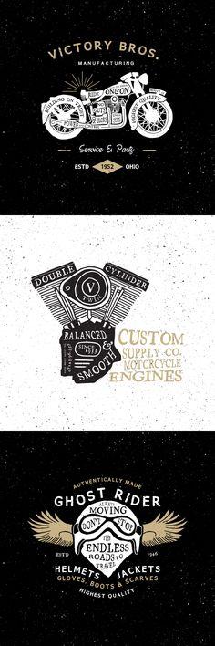 https://www.behance.net/gallery/14736377/Vintage-Motorcycle-Logos