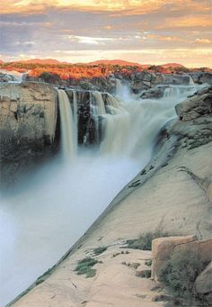 augrabies falls are the 2nd largest falls in africa - southern africa...