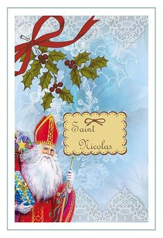 Carte St Nicolas, à imprimer, carterie Bilitis