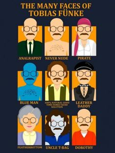 Arrested Development | The many face of Tobias. This is by far my favourite TV show.