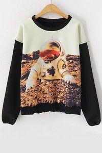 Color Block Astronaut Sweatshirt (Color Multicolored)