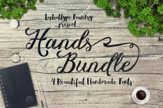The Hands Bundle: 4 Beautiful Brush Script Fonts - only $9! - MightyDeals