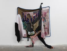 Visual Identity: Meet Eric N. Mack, the New York Artist Breathing New Life into Old Clothes Black Fashion Designers, Soft Sculpture, Sculptures, Textile Fiber Art, Collage, Installation Art, Art Installations, Black Models, Contemporary Artists