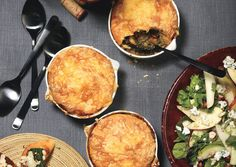 Lentil Pot Pie with Gouda Topping