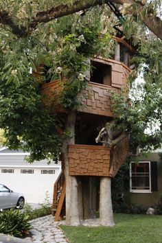 A childhood dream of mine, along with many others, was to have a tree-house. At the age of I visited a friend in Idyllwild who had a tiny tree-house and sat giddy in that thing until hearing. Island, Explore, Plants, Pictures, House, Block Island, Photos, Photo Illustration, Islands