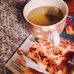 Une tisane, un magazine, une couverture pour une après-midi automnale - Le pamplemousse picoté