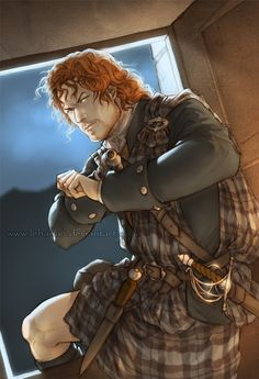 A requested Jamie Fraser for Outlander Actus France. Inspired by last episode's scene, of course Outlander series © Diana Gabaldon Outlander - Take your hands off my wife Outlander Fan Art, Outlander Quotes, Diana Gabaldon Outlander Series, Outlander Season 1, Outlander Tv Series, Sam Heughan Outlander, Outlander Casting, Outlander Novel, Comics