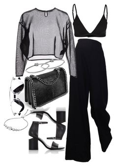 """Untitled #2003"" by sarah-ihab ❤ liked on Polyvore featuring The Row, Bandolera, GUESS, Yves Saint Laurent, Alexander Wang and Michael Kors"