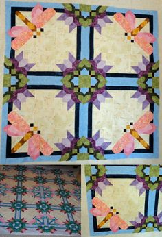 Design by Pam Bono. This quilt was created by Melissa Staib. She shared a lovely story of how it was basically a dedication to her father in law. So glad she could share her personal story and the photos of this gorgeous quilt with us! Thank you!