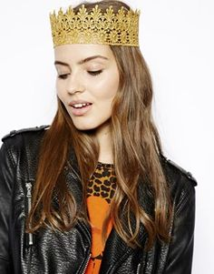 Rock N Rose Gold Lace Crown Headband - I think I can make this. DIY