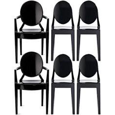 Compre Conjunto Cadeiras Louis e pague em até 12x sem juros. Na Mobly a sua compra é rápida e segura. Confira!