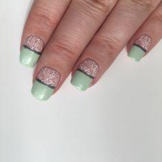 Nude & Green Stamping Nails #nailtutorial #stamping #nails #blog #NOTD #sallyhansen #sallyhansenca #opi #opicanada #stamping #moyoulondon #stamping #stampingnails #manimonday #manicuremonday