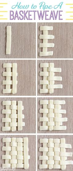 How to Pipe A Basketweave Pattern with Buttercream | From SugarHero.com