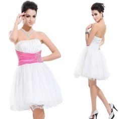 Amazon.com: Ever Pretty Padded Stunning Sequins Rhinestones Cute Organza Party Dresses 03215: Clothing