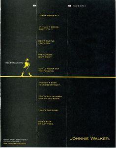 "Johnnie Walker: Keep Walking ""Fold-In"" Ad"