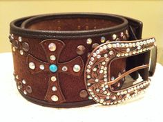 The Texas Cowgirl - Wide Brown Hair on Hide Western Belt with Rhinestone Crosses, $69.99 (http://www.thetexascowgirl.com/wide-brown-hair-on-hide-western-belt-with-rhinestone-crosses/)