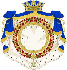 File:External Ornaments Duke and Peer of France and Knight of the Royal Orders. Coat Of Arms, Duke, Knight, Badge, Cz Jewellery, Flag, France, Crests, Ornaments
