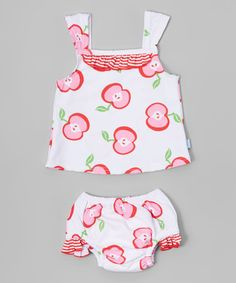 Another great find on #zulily! White Apple Tankini - Infant & Toddler #zulilyfinds