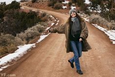 MacGraw this past winter, near her home outside Santa Fe, New Mexico. Photograph by Annie Leibovitz.
