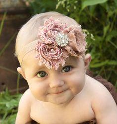 That Cute Little Flower Girl!   #FlowerGirl #FlowerHeadband #BebeFashion