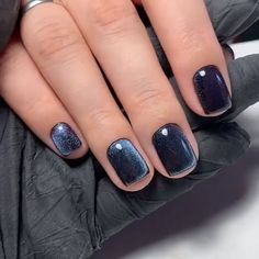 lovely winter nails design ideas you should copy 20 ~ my.me lovely winter nails design ideas . Square Nail Designs, Gel Nail Designs, Nails Design, Black Nail Designs, Hair And Nails, My Nails, Fall Nails, Shiny Nails, Sparkle Nails
