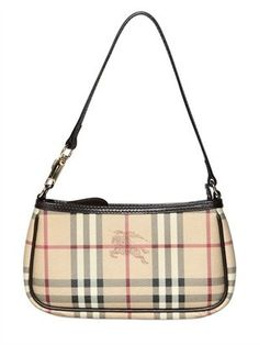 ShopStyle: Burberry - Small Aston Haymarket Pvc Shoulder Bag