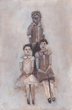 Original painting Vandyke Siblings acrylic by LisaGrahamArt