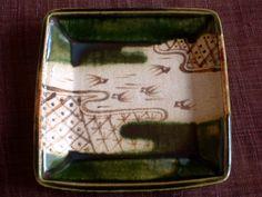 Oribe dish with birds