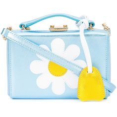 Mark Cross daisy shoulder box bag ($2,195) ❤ liked on Polyvore featuring bags, handbags, shoulder bags, blue, real leather handbags, mark cross, daisy handbag, mark cross purse and genuine leather handbags