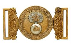 Badge. Indian Army. The Prince of Wales' Own Grenadiers Officer's waist belt clasp. A very fine a