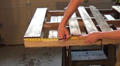 Measure Up From The Bottom To 16 Inches And Mark | Instructions On How To Make A DIY Pallet Wine Rack