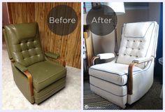Reupholstering an ol