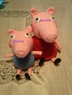 Peppa Pig & George crochet