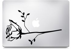 Rose Macbook Stickers    Beautiful rose decal for laptop, macbook, mac book, back to school
