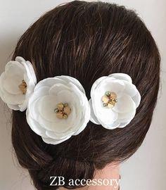 Bridal silk flowers peach blush pink handmade hair accessories off white silk flower hair clip with golden spikes handmade bridal accessories bridal shoe mightylinksfo