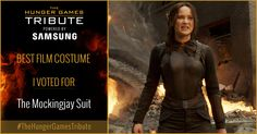 I voted for The Mockingjay Suit as Tribute for The Hunger Games Tribute Awards #TheHungerGamesTribute  tribute.thehungergames.movie