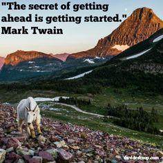 Inspirational Quotes | Mark Twain #inspiration #quotes #secret #gettingahead #getstarted